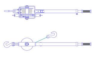 Схема лебедки ЛРо