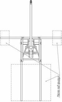 Схема расположения пригруза для крана КР