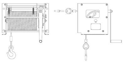 Схема лебедки ЛРТ3