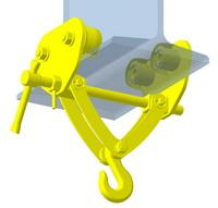 Модель подвижной тавровой подвески