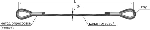 Строп ВК основные размеры