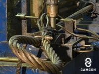 Makine örgülü halat askıları