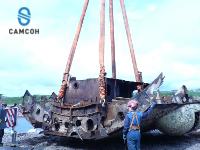 Перегрузка элементов судна при демонтаже