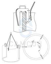 Схема использования захвата для бетонных колец