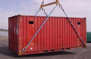 Перемещение контейнера с промощью универсальных захватов
