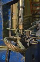 Заплетка каната на станке с гидроприводом иглы