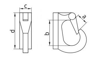 Схема приварочного крюка
