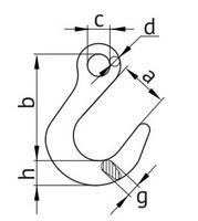 Схема крюка с широким зевом
